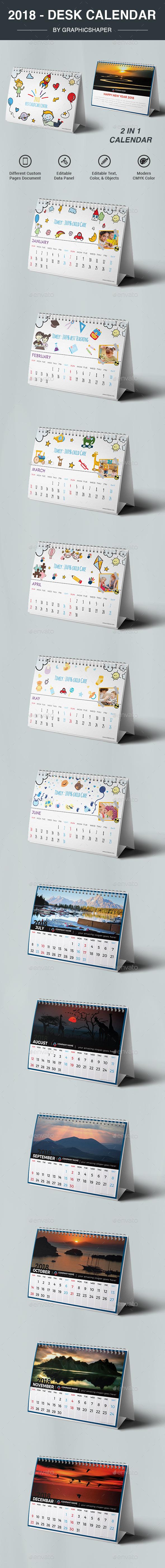 2018 Desk Calendar - Calendars Stationery
