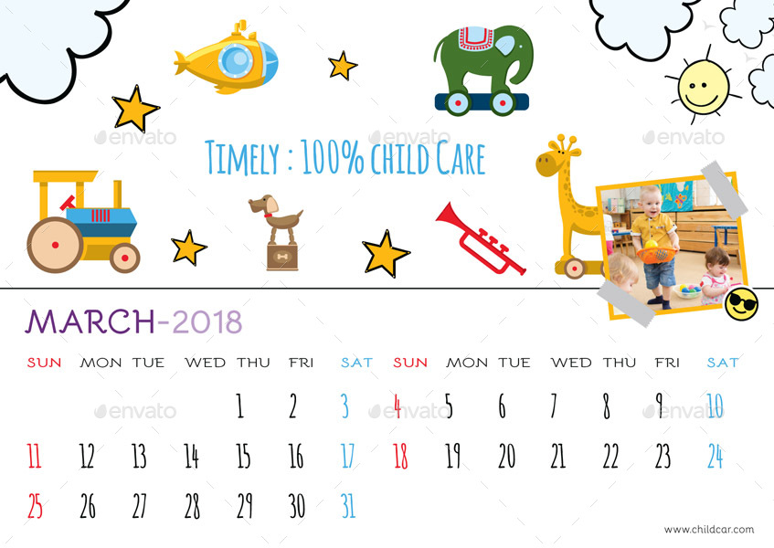 Drawing Calendar 2018 : Desk calendar by graphicshaper graphicriver