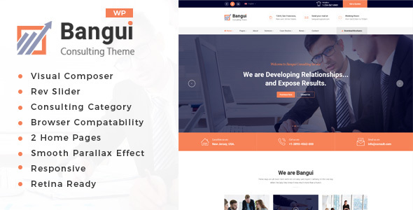Image of Bangui - Business Consulting WordPress theme