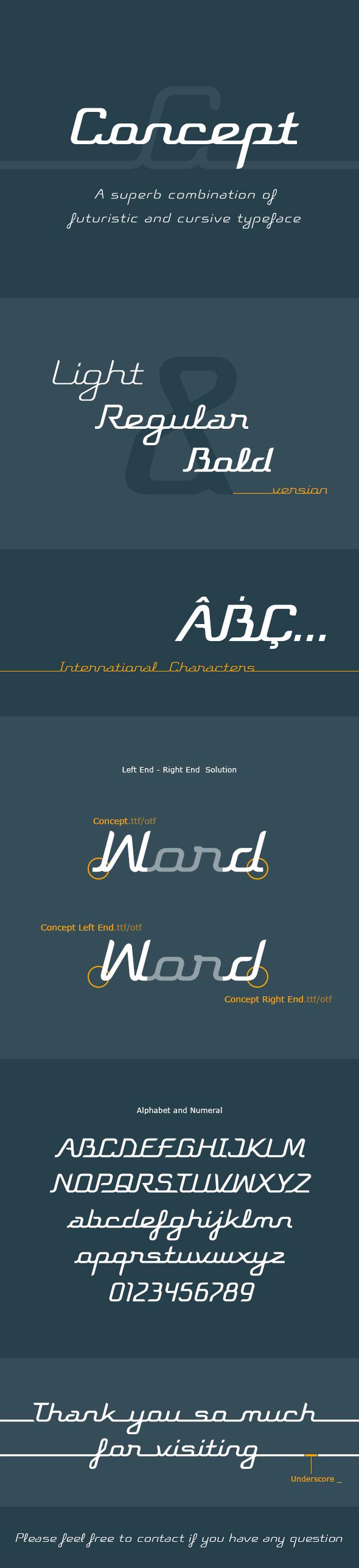 Concept Typeface - Futuristic Decorative