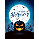 Halloween Theme with Jack O Lantern on the Moon Background