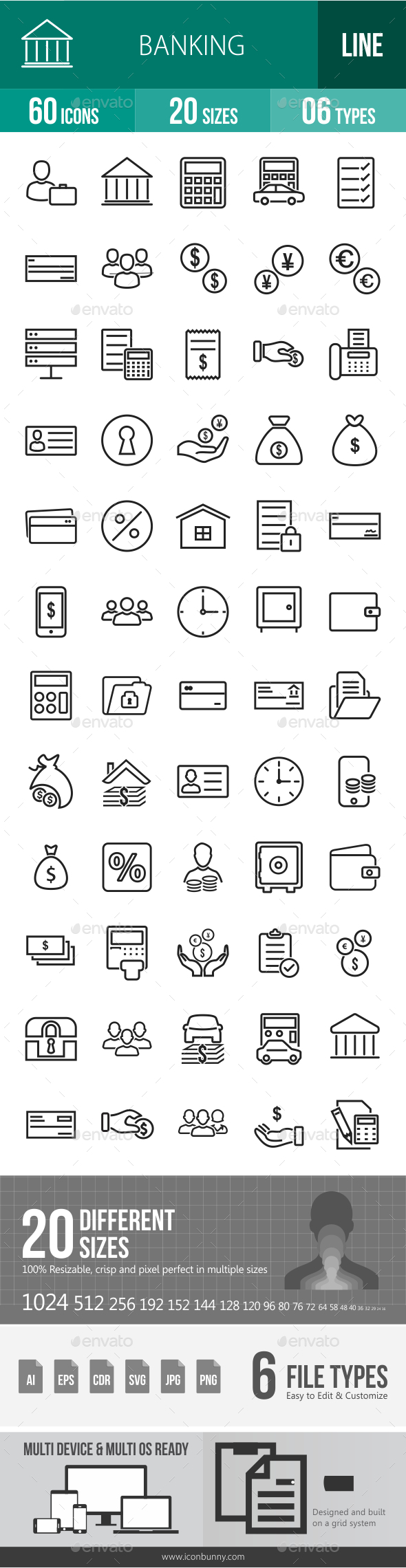 GraphicRiver Banking Line Icons 20756240