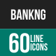 Banking Line Icons