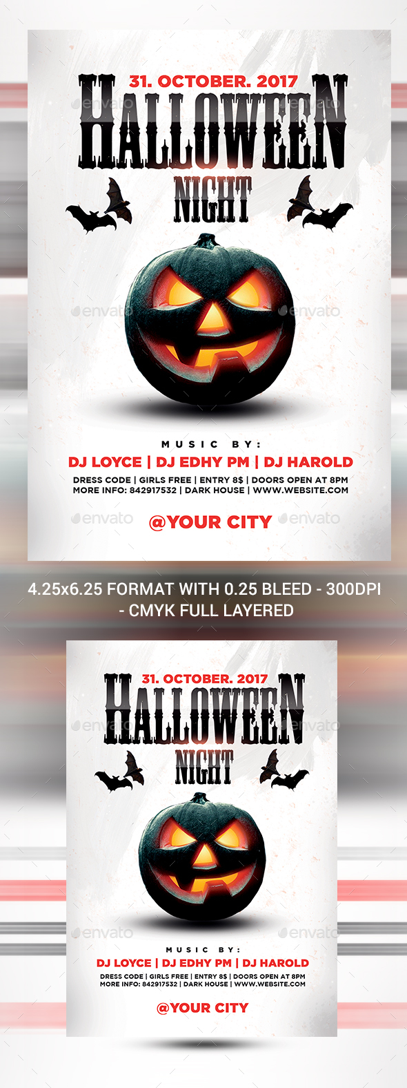 Halloween Night Flyer - Print Templates