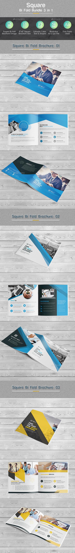 Square Bi-fold Brochure Bundle 3 in 1 - Corporate Brochures
