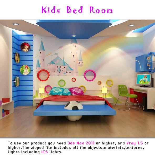 Kids Bedroom - 3DOcean Item for Sale
