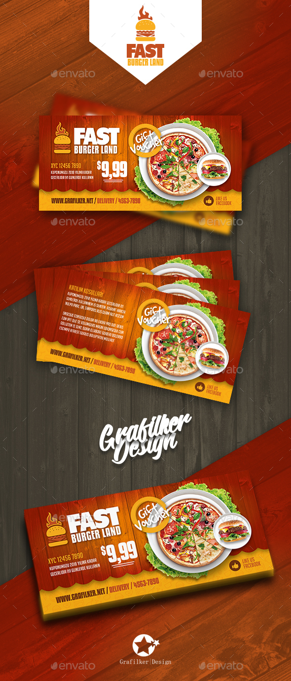 Restaurant Gift Card Templates - Cards & Invites Print Templates