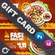 Restaurant Gift Card Templates