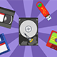 6 Animated Icons Storage and Bonus 8 BG - VideoHive Item for Sale