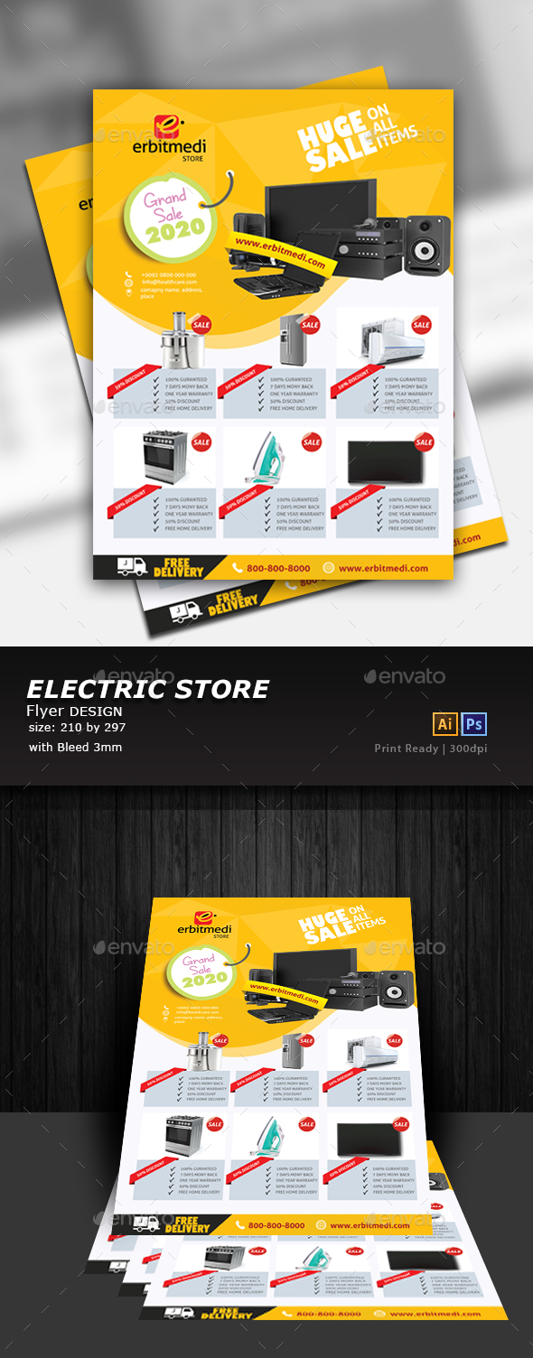 GraphicRiver Electronic Store Flyer 20756403