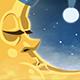Sleeping Moon In Nightcap