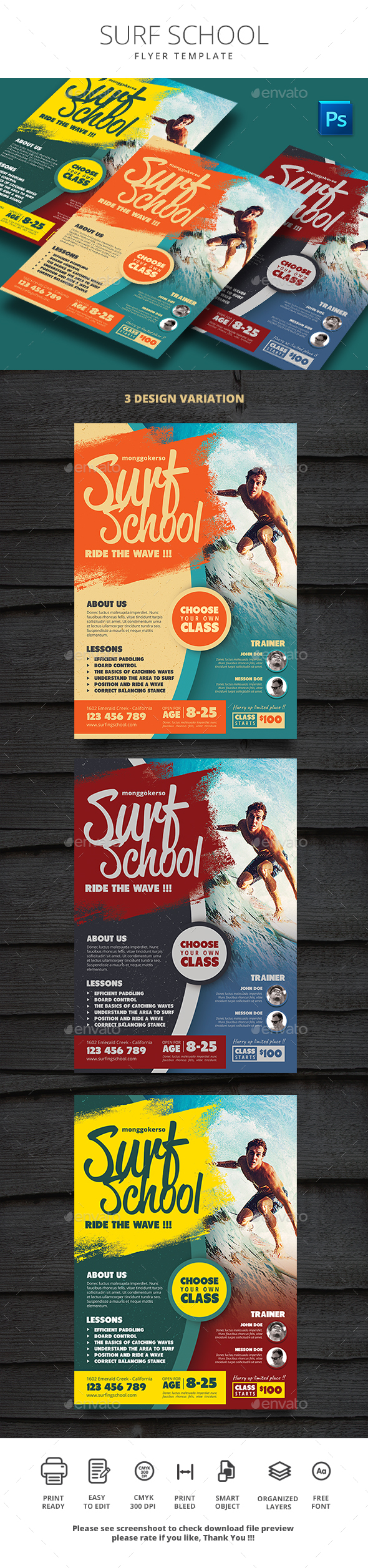 GraphicRiver Surf School 20756494