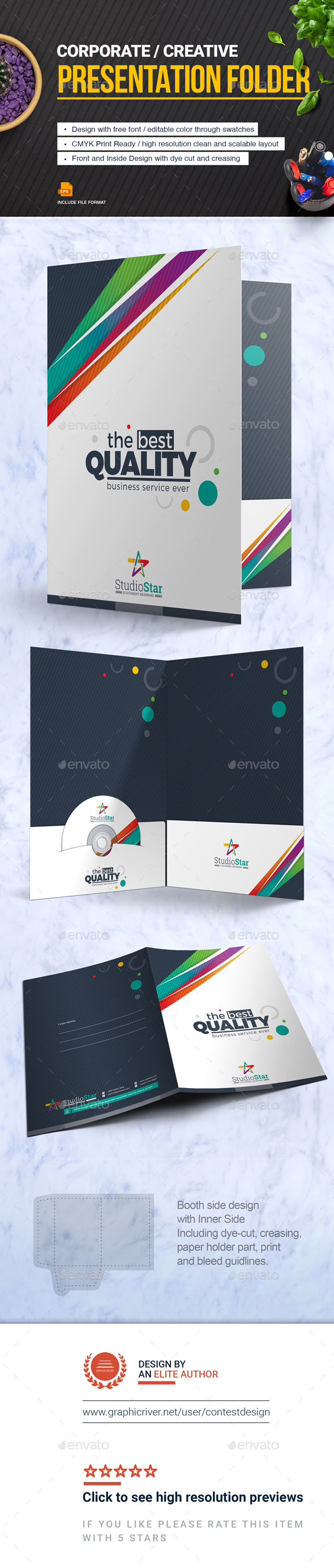 GraphicRiver Presentation Folder File-Paper-Document Holder Design Template 20756532