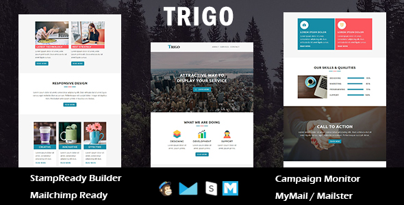 Trigo  - Multipurpose Responsive Email Templates with Stamp Ready Builder Access