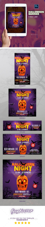 GraphicRiver Halloween Banner 20756539