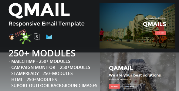 QMAIL - Responsive Email Template + Stampready Builder