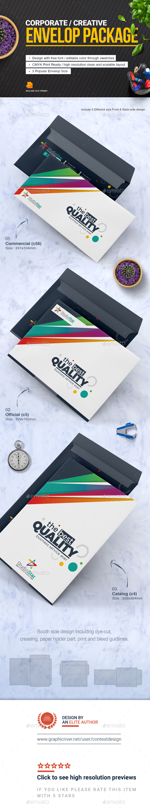 GraphicRiver Envelop Package Design Template 20756641