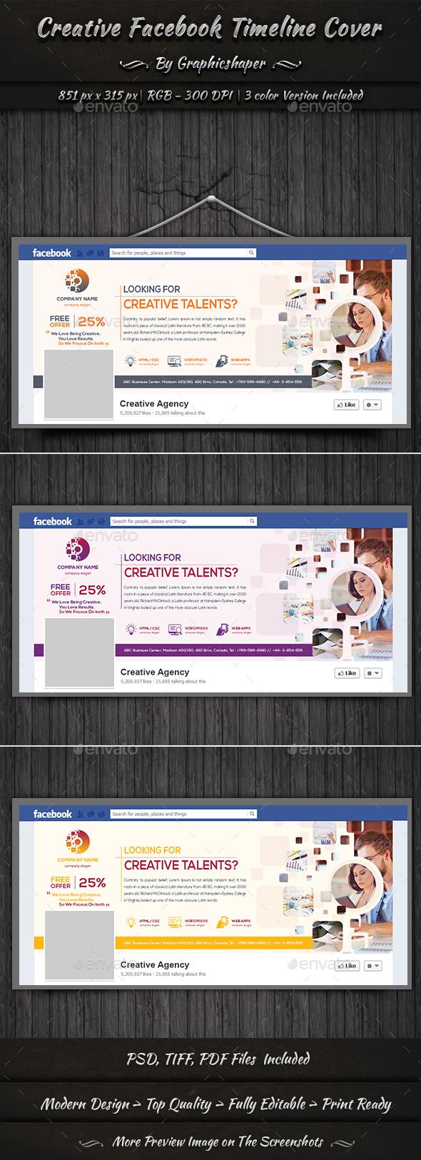 GraphicRiver Creative Facebook Timeline Cover 20756891