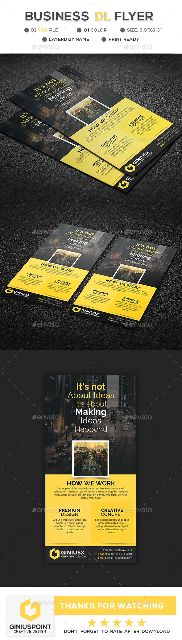 Business DL-Flyer - Flyers Print Templates