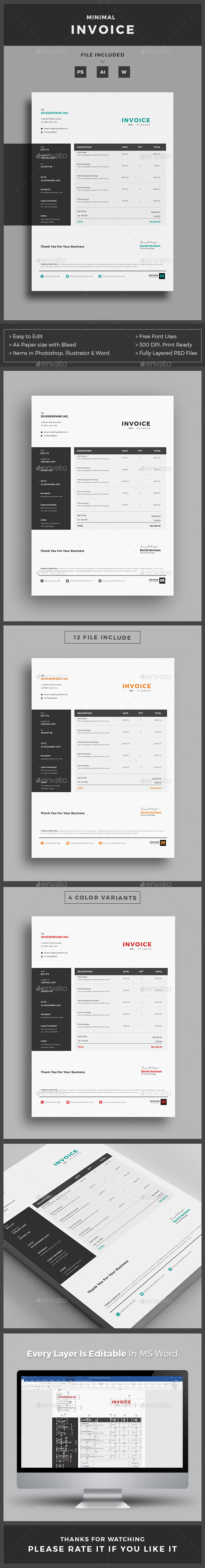 GraphicRiver Invoice 20756936