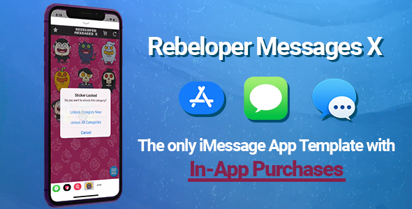Rebeloper Messages - iMessage App in Swift 4, iOS 11 - CodeCanyon Item for Sale