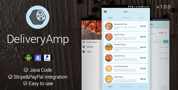 DeliveryAmp - Android App - CodeCanyon Item for Sale
