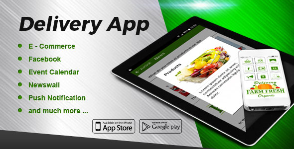 Delivery Service iOS  & Android App with E-Commerce Module - CodeCanyon Item for Sale