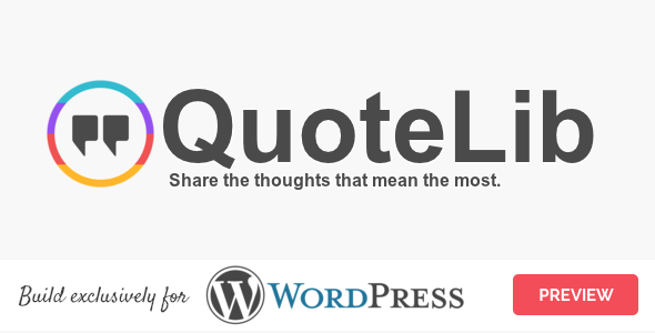CodeCanyon QuoteLib Quotes Manager for WordPress 20757149