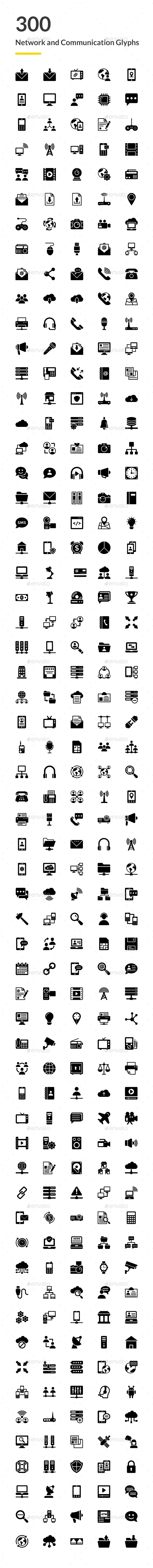 GraphicRiver 300 Network and Communications Icons 20757253