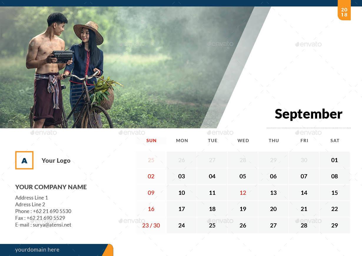 Latest Calendar Design : Desk calendar by atensi graphicriver