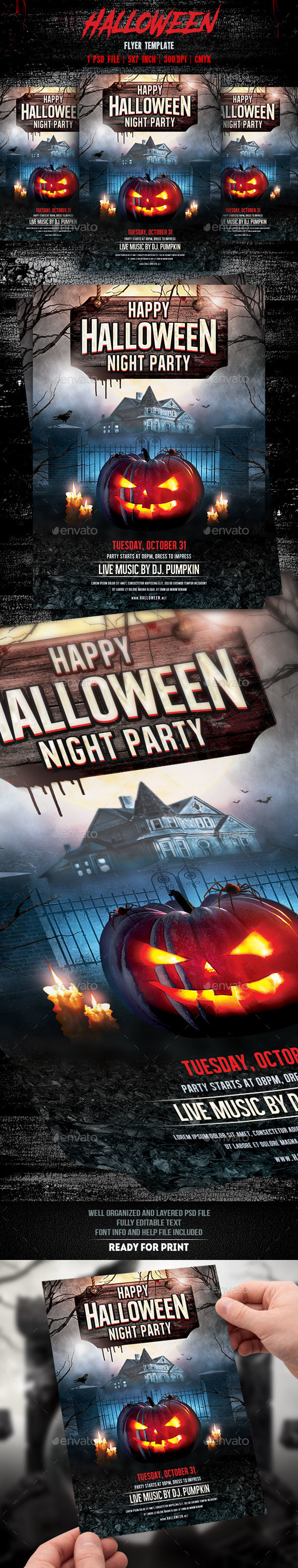 Halloween Party Flyer Template v3 - Events Flyers
