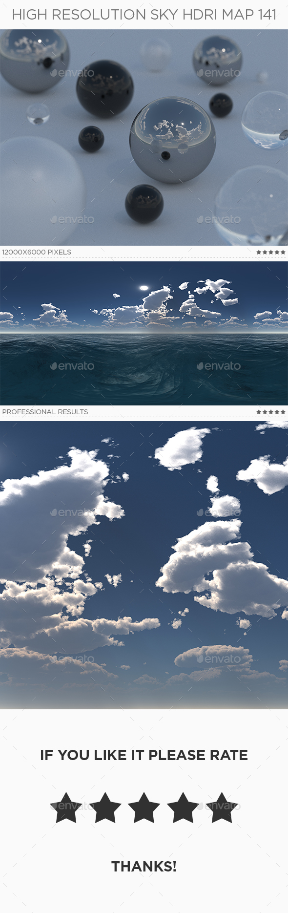 High Resolution Sky HDRi Map 141 - 3DOcean Item for Sale