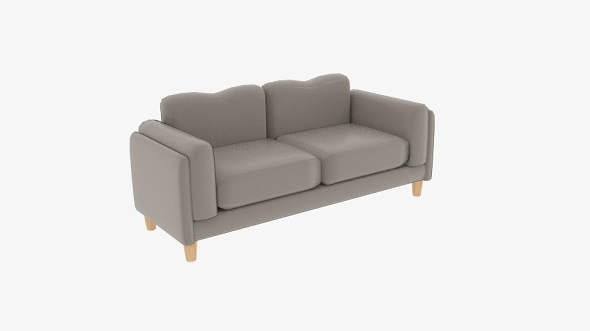 Fabric Sofas Small Cuddle Couches - 3DOcean Item for Sale