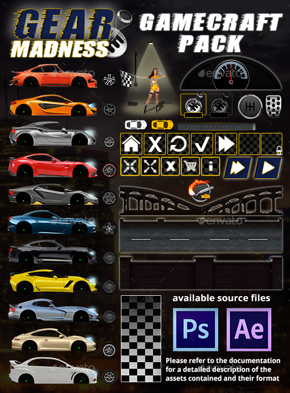 Gear Madness - Game Assets - Game Kits Game Assets