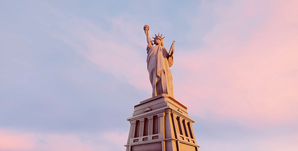 VideoHive Statue Of Liberty Against The Sky 20757481