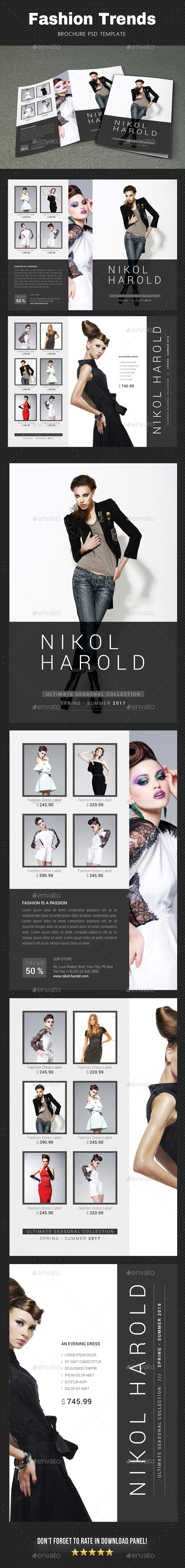 Fashion Brochure 4 - Brochures Print Templates
