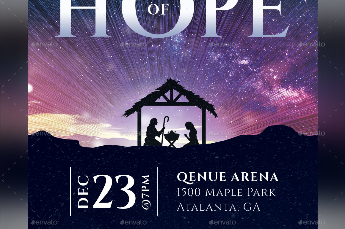 Hope Christmas Ticket Template by Godserv | GraphicRiver