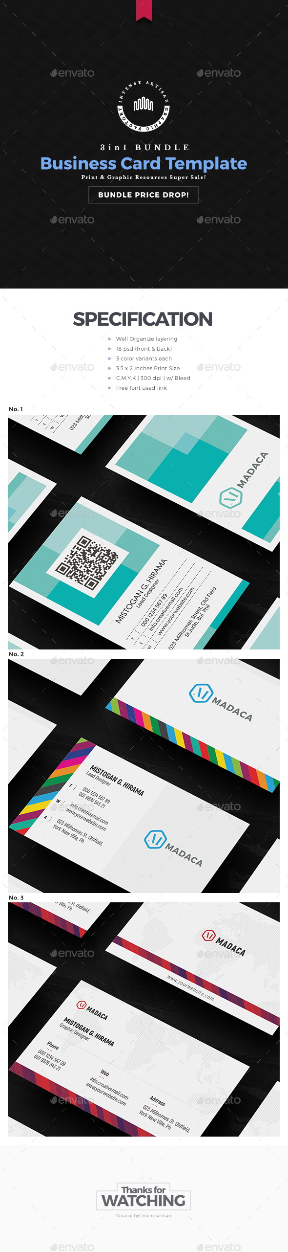 GraphicRiver Business Card 3in1 Bundle 20757631