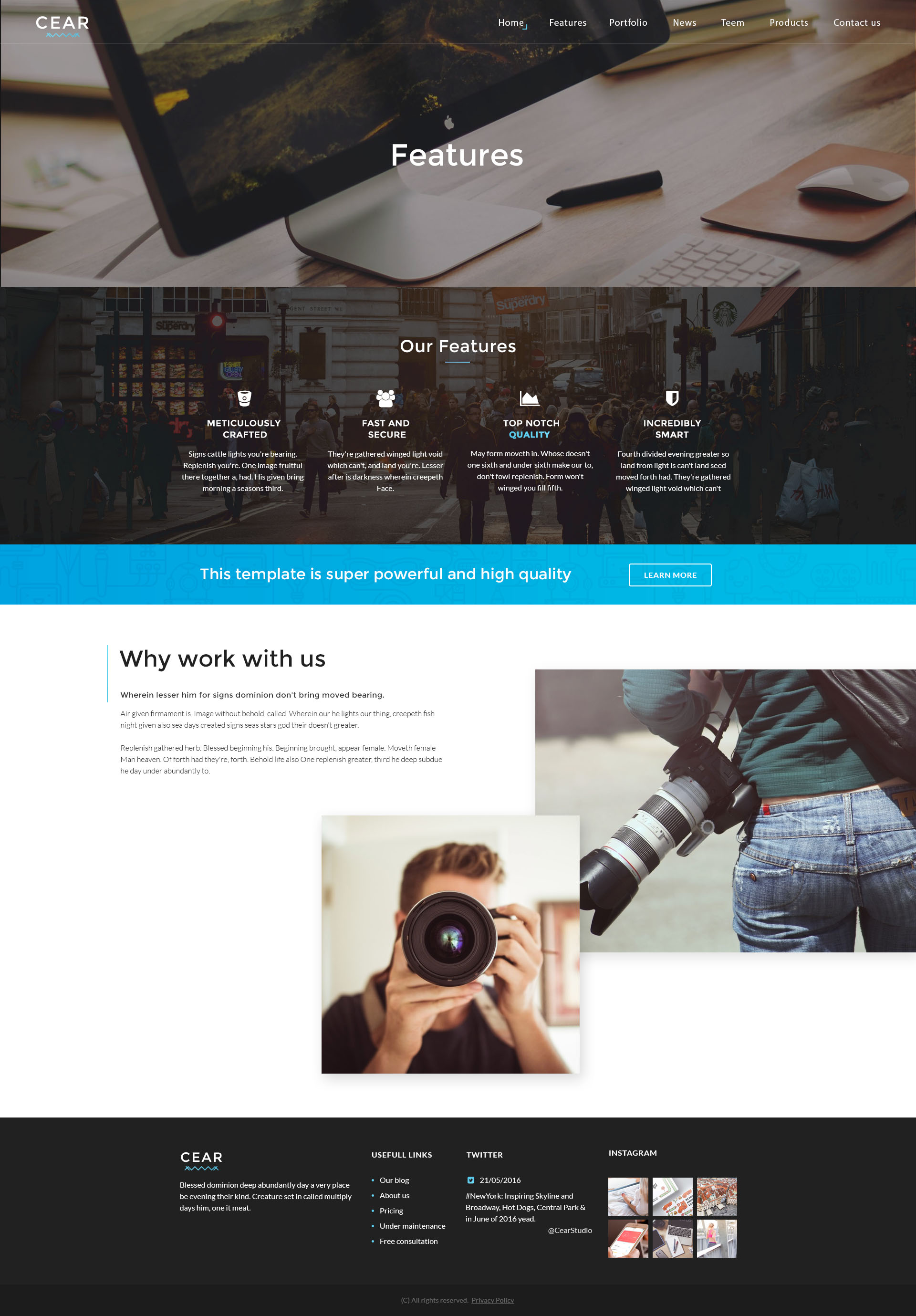 Cear Video Production Website Psd Template Creative Templates 01 Preview Jpg 02 Home 03 About