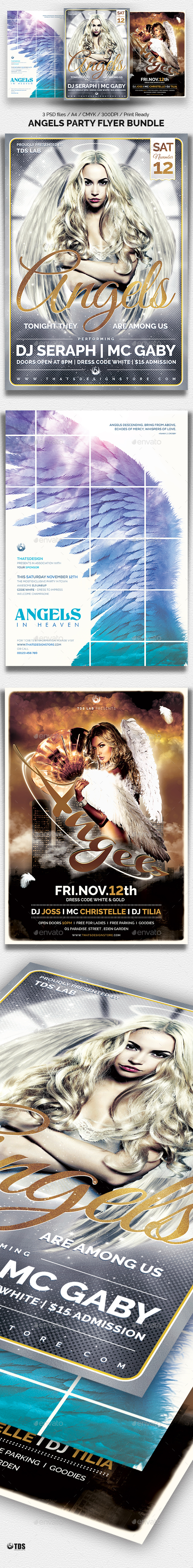 GraphicRiver Angels Party Flyer Bundle 20757672