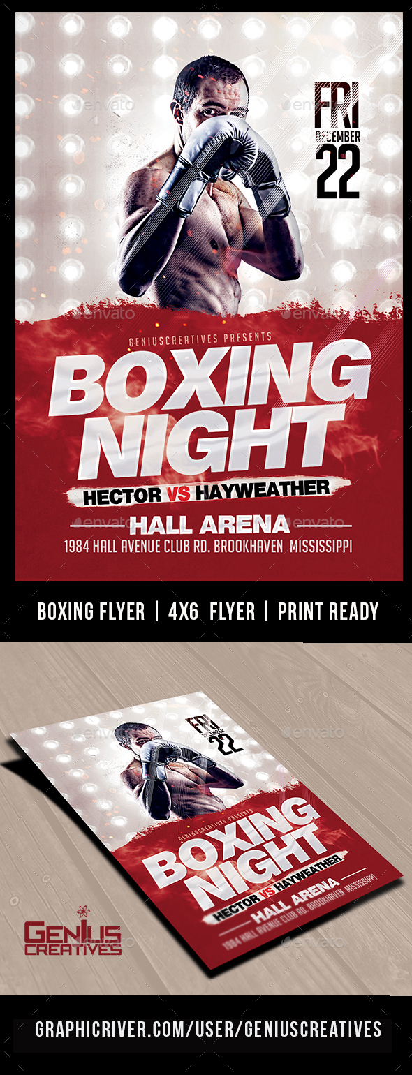 GraphicRiver Boxing Night FLyer Template 20757710