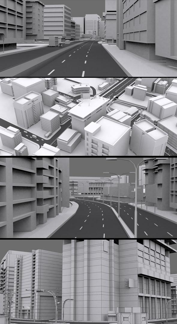 3DOcean VR City Vol 20757885