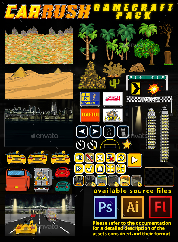 Car Rush - Game Assets - Game Kits Game Assets