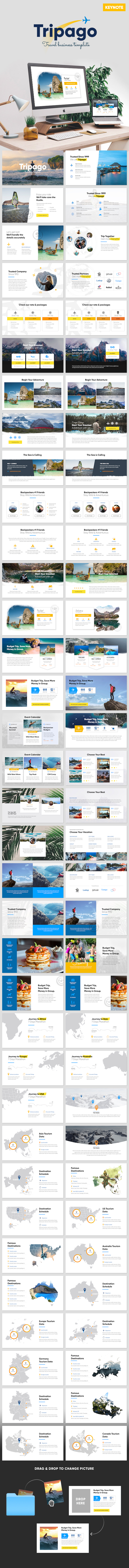 Tripago - Travelling Business Keynote Template