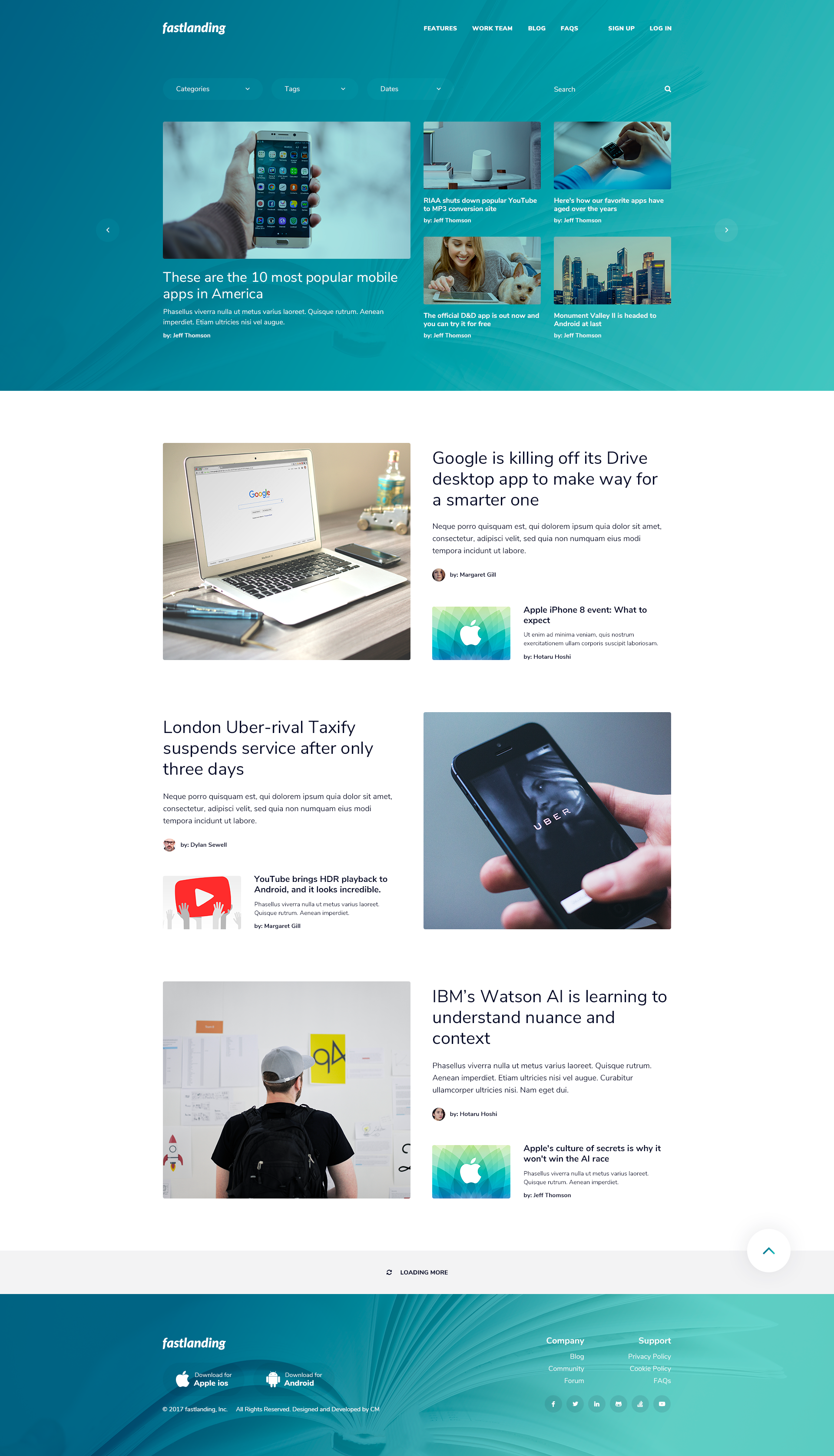 fastlanding - Creative Landing Page - PSD Template by Creative_Moments