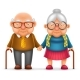 Elderly Couple - GraphicRiver Item for Sale