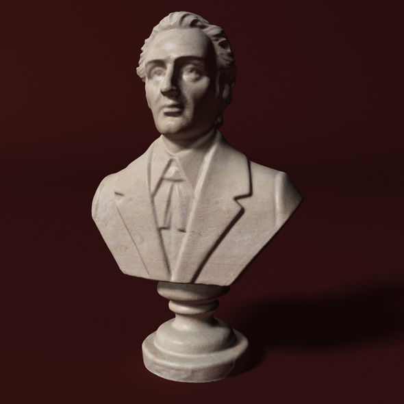 Chopin Bust - 3DOcean Item for Sale