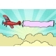 Retro Airplane with a Ribbon in the Sky