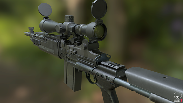 rifle MK14 Ebr - 3DOcean Item for Sale