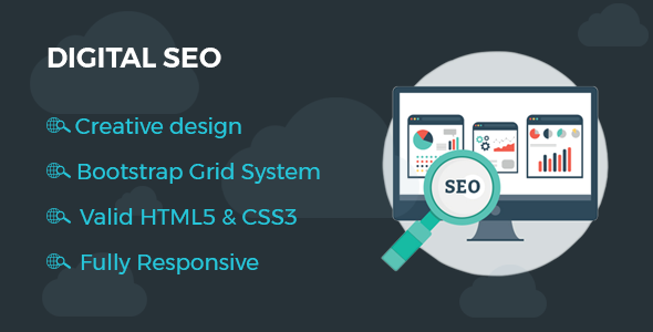 Image of Digitalseo - HTML One Page Template for SEO